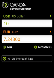 Currency app screenshot